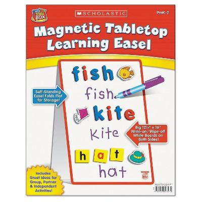 Scholastic Magnetic Tabletop Learning Easel, Ages 4-7