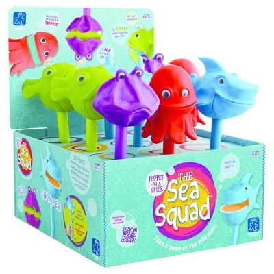 Educational Insights The Sea Squad Puppet-on-a-Stick, Display of 9