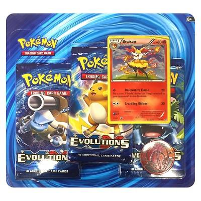 2016 Pokemon Trading Card Game 3 Pack featuring Braixen