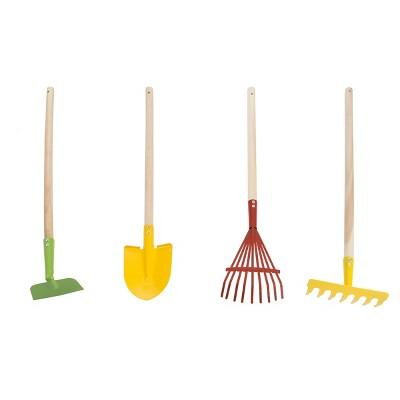 Hey! Play! Kid's Safe Garden Tool Set with Wooden Handles 4 pc
