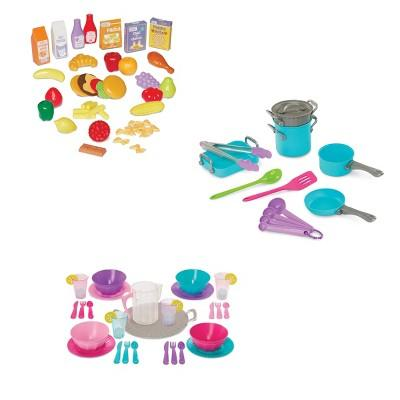 Perfectly Cute Home Deluxe Cooking In The Kitchen 91pc Play Food and Kitchen Accessory Bundle