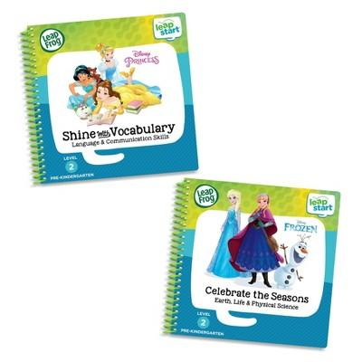 Disney Princess LeapFrog LeapStart 2 Book Combo: Shine With Vocabulary and Celebrate the Seasons