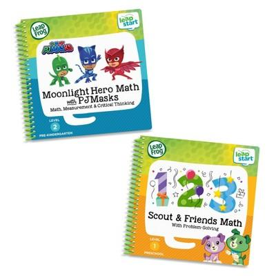 LeapFrog LeapStart 2 Book Combo Pack: Moonlight Hero Math with PJ Masks and Scout And Friends