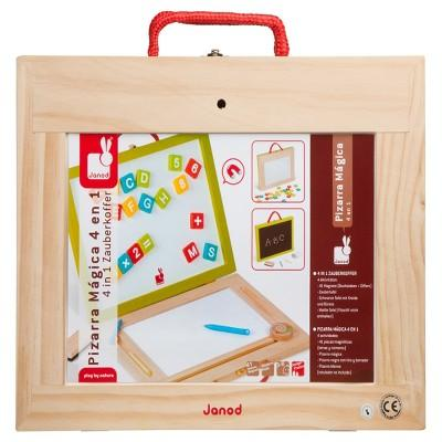 Janod 4-in-1 Magic Magnetic/ Blackboard Suitcase