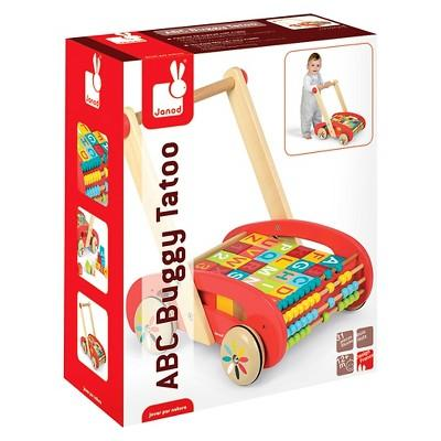 Janod ABC Buggy Cart with Blocks