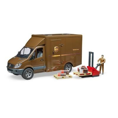 Bruder Toys MB Sprinter UPS with Driver and Accessories - 1:16 Scale