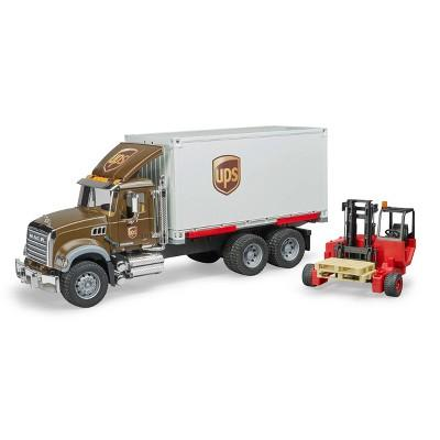 Bruder Toys MACK Granite UPS Logistics Truck with Forklift - 1:16 Scale