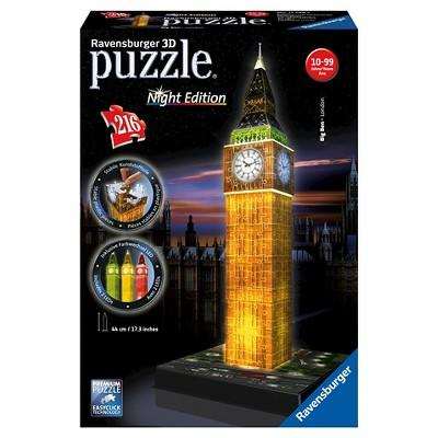 Ravensburger Big Ben Night Edition With LED 3D Puzzle 216pc
