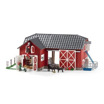 Schleich Farm World Large Red Barn with Animals & Accessories Playset