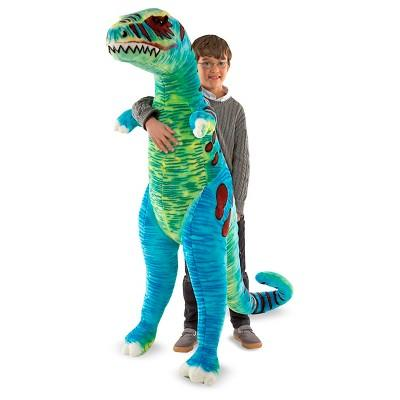 Melissa & Doug® Jumbo T-Rex Dinosaur - Lifelike Stuffed Animal (over 4 feet tall)