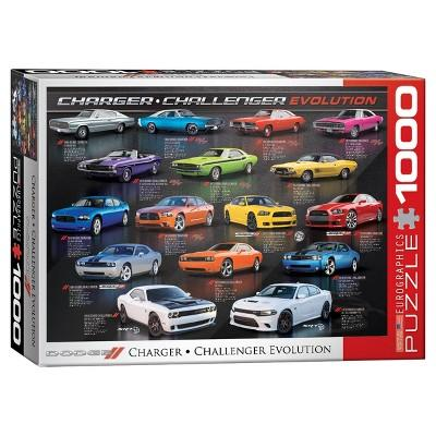 EuroGraphics Dodge Charger Challenger Evolution Puzzle 1000pc