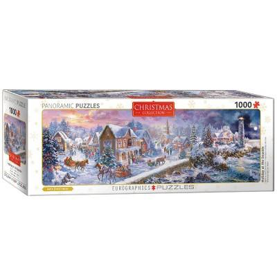 Eurographics Panoramic Holiday: Holiday At The Seaside Puzzle 1000pc