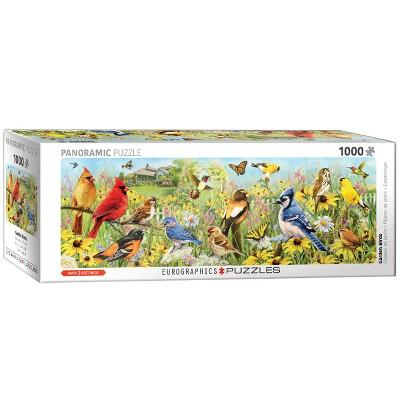 EuroGraphics Panoramic: Greg Giordano's Garden Birds Puzzle 1000pc