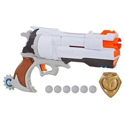NERF Overwatch McCree Rival Blaster with Die Cast Badge and 6 Overwatch Nerf Rival Rounds