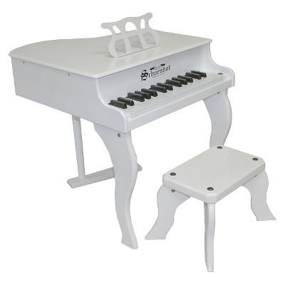 Schoenhut Fancy Baby Grand Piano - White