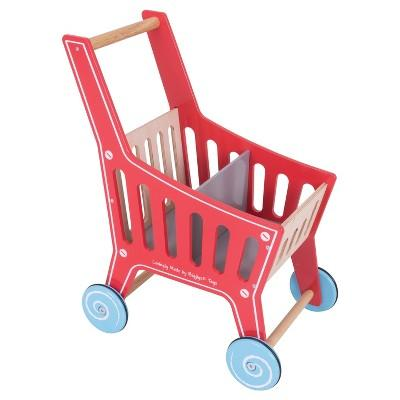 Bigjigs Toys Shopping Trolley Wooden Role Play Toy