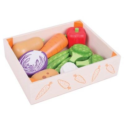 Bigjigs Toys Veg Crate Wooden Role Play Toy