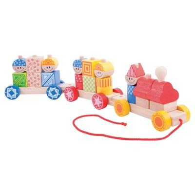 Bigjigs Toys Build Up Train Wooden Developmental Toy