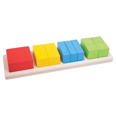 Bigjigs Toys Square Fraction Board Wooden Educational Toy