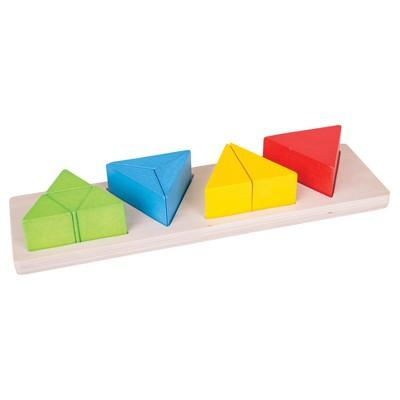 Bigjigs Toys Triangle Fraction Board Wooden Educational Toy