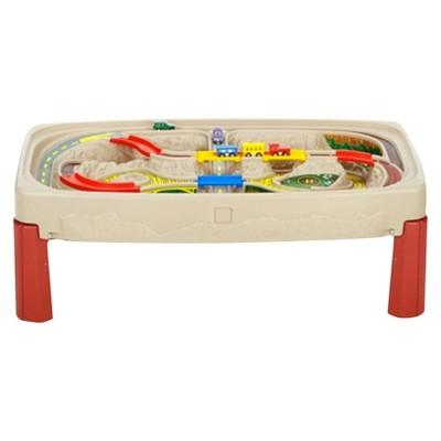 Step2 Deluxe Canyon Road Train & Track Table with Lid