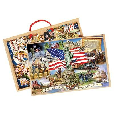 T.S. Shure Wooden Puzzle Set American Presidents 48pc