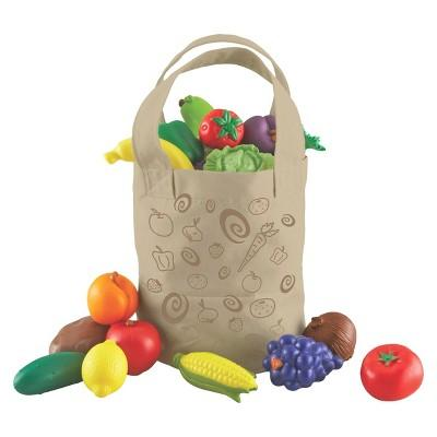 Learning Resources New Sprouts Fresh-Picked Fruit & Veggie Tote