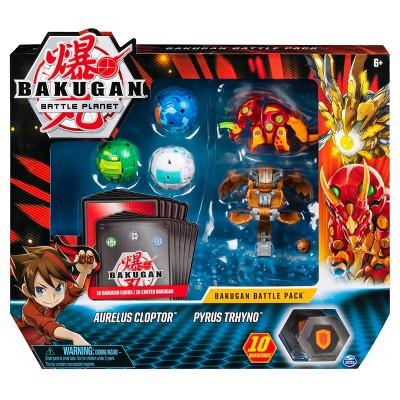 Bakugan Aurelus Cloptor and Pyrus Trhyno Battle Pack 5-Pack