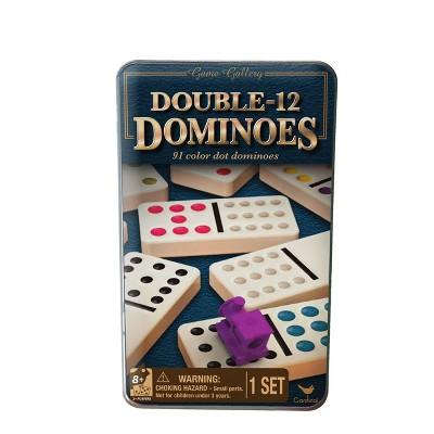Cardinal Game Gallery Double 12 Color Dot Dominoes