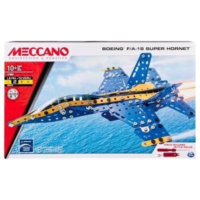 Meccano Erector - Boeing F/A-18 Super Hornet Building Set with Foldable Wings