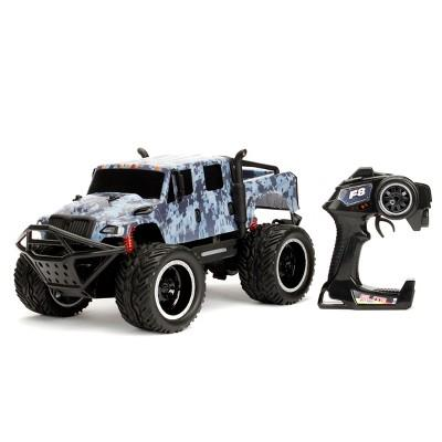 Jada Toys Fast & Furious Elite Off-Road RC Hobbs' MXT Remote Control Vehicle 1:12 Scale Blue Camo