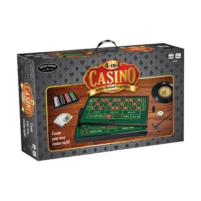 Front Porch Classics 4- in- 1 Casino: Roulette, Blackjack, Craps, Poker Board Game