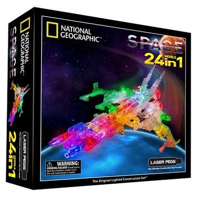 Laser Pegs National Geographic 24 in 1 Space Lighted Construction Toy