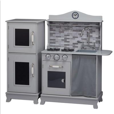 Teamson Kids Sunday Brunch Wooden Play Kitchen – Gray