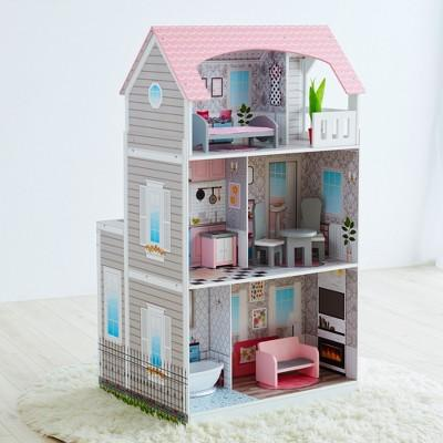 Teamson 2-in-1 Play Kitchen & Dollhouse
