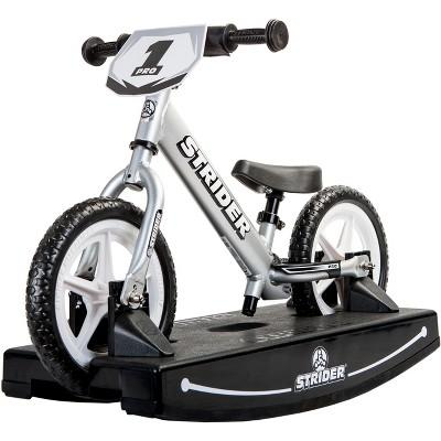 Strider 12 Pro Baby Bundle No - Pedal Balance Bike - Silver