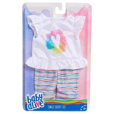 Baby Alive Baby Doll White T-Shirt & Pants