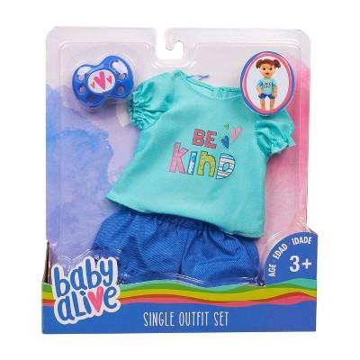 Baby Alive Baby Doll Teal T-Shirt & Pants