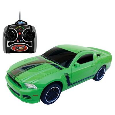 Jam'n Products Gear'd Up Mustang Boss 302 Remote Control Vehicle, Green 1:24 Scale