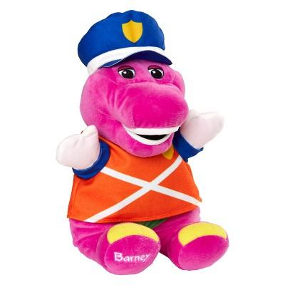 "Fisher-Price Barney & Friends Police Hat & 12"" Plush Doll"