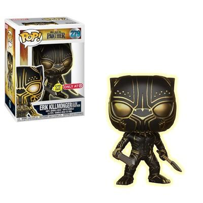 Funko POP! Marvel: Black Panther - Glow in the Dark Erik Killmonger (Target Exclusive)