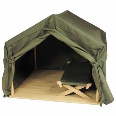 The Queen's Treasures® 18 Inch Doll Furniture Dr. Goodall Inspired Gombe Research Camping Tent And Cot