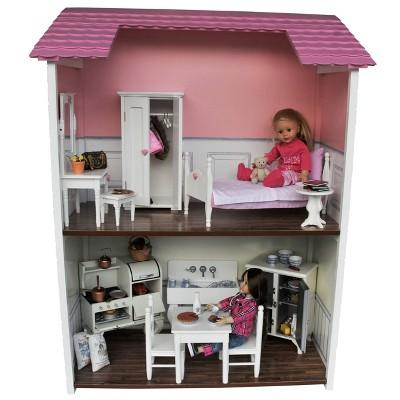The Queen's Treasures Fold & Store 2-Story Doll Townhouse For 18