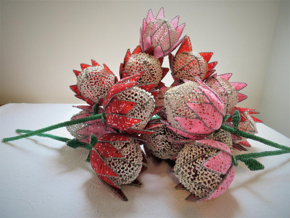 Wire Beaded Proteas