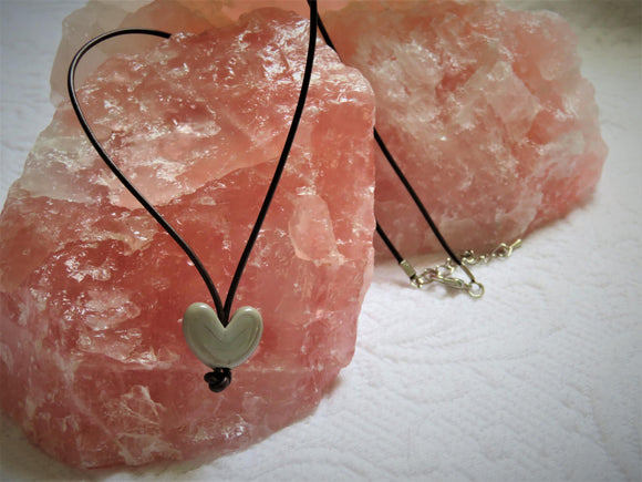 Short Leather Heart Necklace