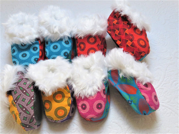Shweshwe Slippers - Kids
