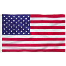 Load image into Gallery viewer, FLAGBURG American Flag Durable US 100% Polyester Flag, Print Vivid Color and UV Fade Resistant, Canvas Header and Double Stitched, USA Outdoors Indoors Flags with Brass Grommets