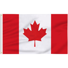 Load image into Gallery viewer, FLAGBURG Canada Flag 5x8 FT, Canadian Flag with Print Vivid Color and UV Fade Resistant, Canvas Header and Double Stitched,Outdoors Indoors Light-Weight Flags with Brass Grommets