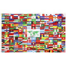 Load image into Gallery viewer, FLAGBURG World Flag Banner, International Global Unity Flags Banner 216 Country with Vivid Color (One Side), Double Stitched, Canvas Header, Flag of The World with Brass Grommets