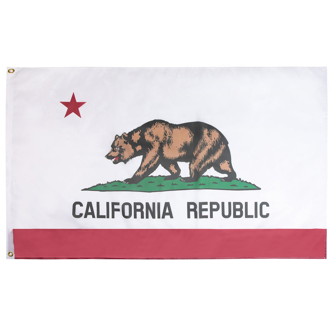 FLAGBURG California State Flag 5x8 ft, California Republic State Flag with Print Vivid Color and UV Fade Resistant, Canvas Header and Double Stitched,Outdoors Indoors CA Flag with Brass Grommets